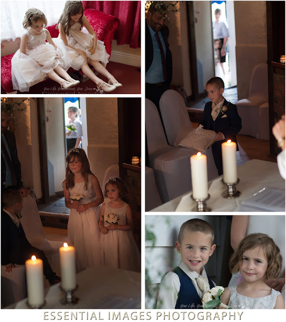 Wedding photography with page boy and flower girls