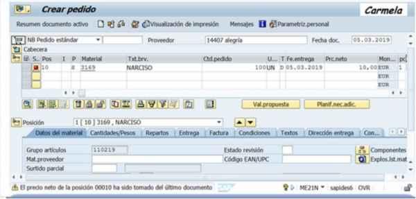 Pedido Subcontratación SAP - Consultoria-SAP