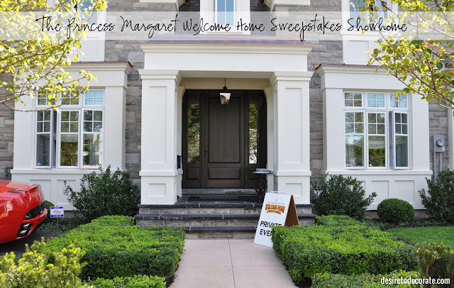 The Princess Margaret Welcome Home Sweepstakes Showhome via Desire to Decorate