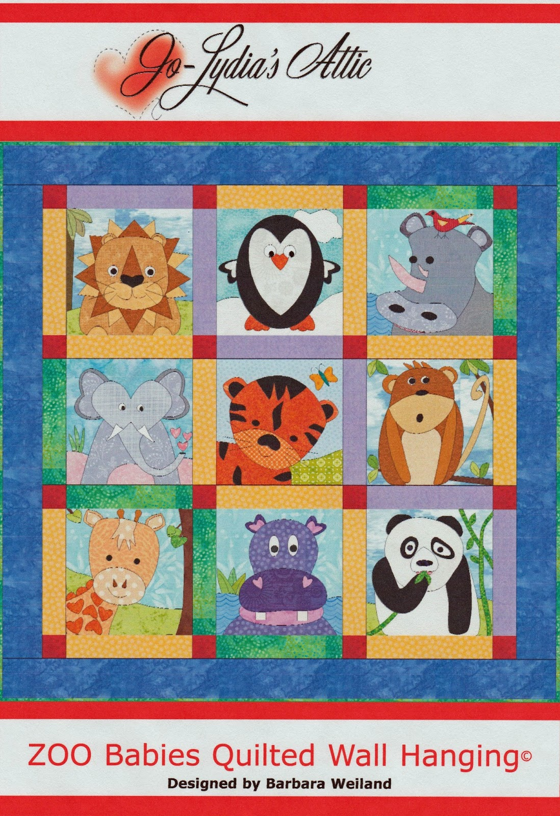 The Joy Of Sewing And Quilting Too Zoo Babies Quilted