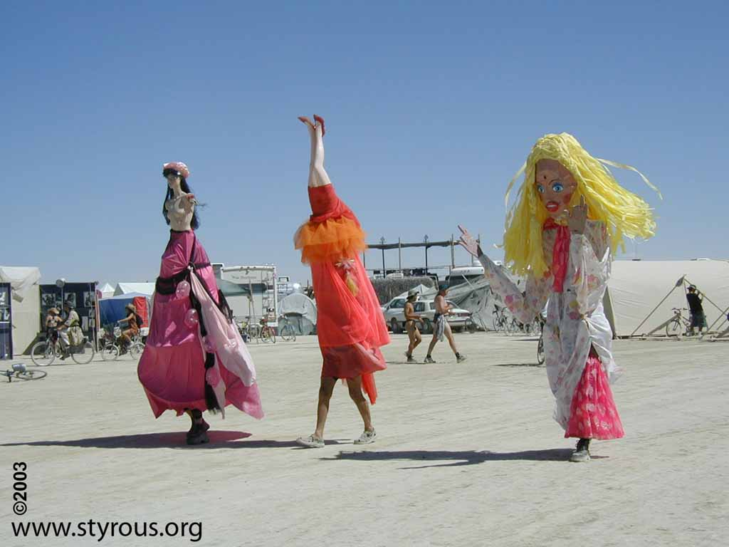 The Styrous 174 Viewfinder Burning Man 2003 People
