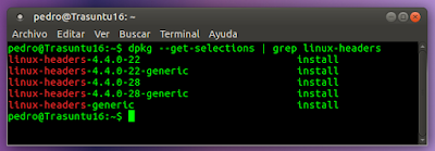 dpkg --get-selections | grep linux-headers