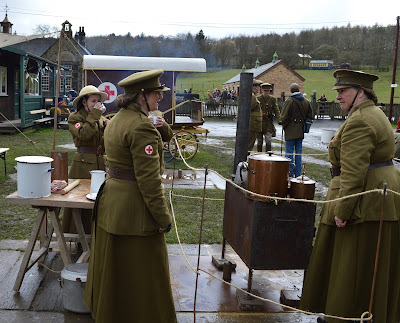 A Bus Trip to the Horses at War Event at Beamish - military camp