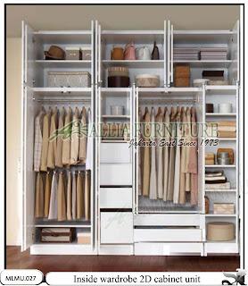 Dalam lemari minimalis model unit cabinet 2D