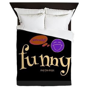 A Funny Thought Black Queen Duvet
