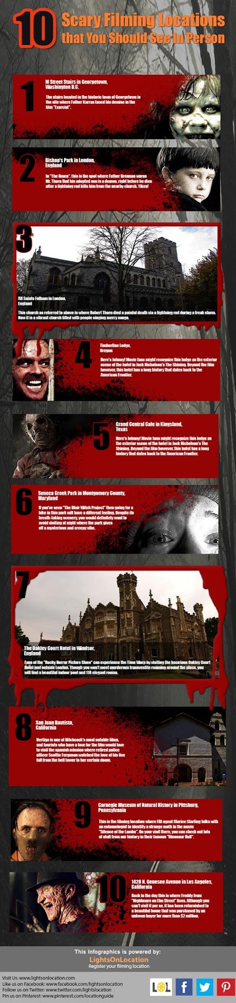 10 SCARY FILMING LOCATION THAT YOU SHOULD SEE IN PERSON