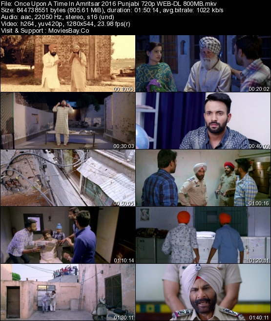 Once Upon A Time In Amritsar 2016 Punjabi 720p WEB-DL 800MB