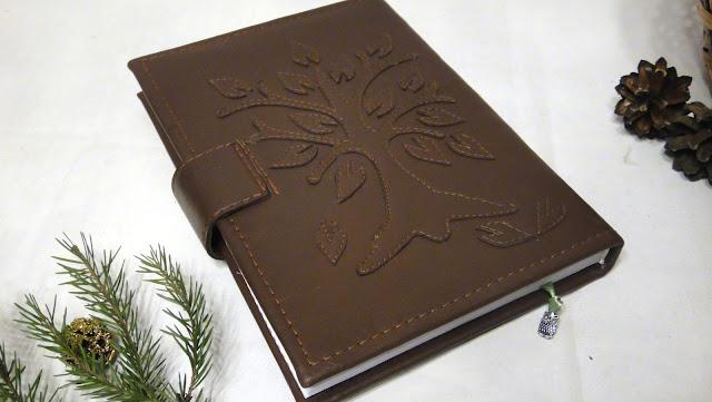 Датированный ежедневник кожа Дерево мудрости - подарок на день рождения, подарок коллеге Именной подарок