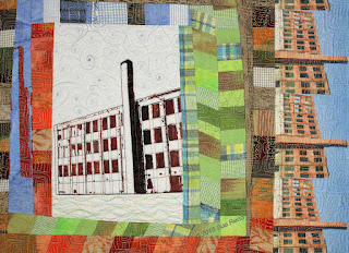 Silk Mill #3, detail 3,  by Sue Reno