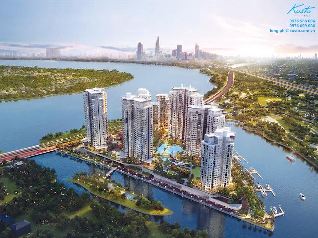 Phối cảnh tổng thể dự án Đảo Kim Cương.