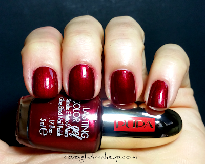 Swatch Smalti Collezione Pupa Red Queen