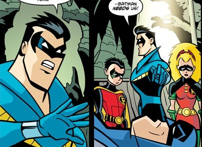 ... Nightwing costume) ... & Xplosion of Awesome: The All-New Batman: The Brave and the Bold #13