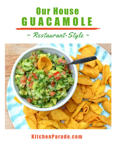 My Guacamole, the restaurant-style house recipe ♥ KitchenParade.com. Very Weight Watchers Friendly. Unusually Low Cal. Low Carb. Vegan. Gluten Free. Weeknight Easy, Weekend Special.