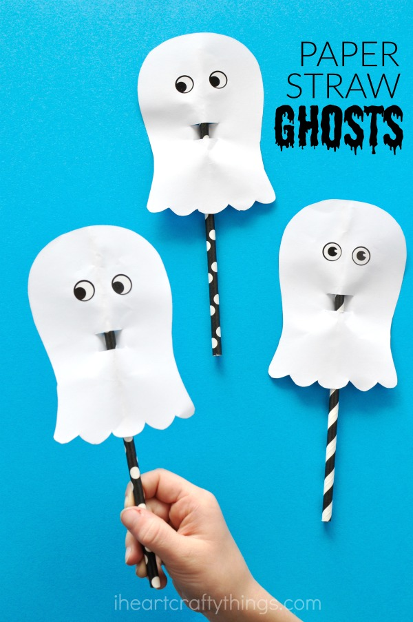 16 simple and easy Halloween paper craft ghost for kids. DIY Halloween Paper craft ghost 2018. Halloween paper craft ghost ideas for kids. Preschool craft paper craft ideas. Spooky decoration paper craft. Paper craft for indoor decoration. Simple scary Halloween craft ideas.