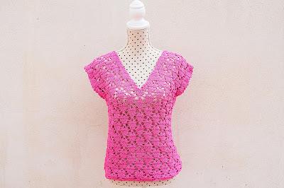 2 - Crochet IMAGENES Blusa de corazones muy fácil y sencilla. MAJOVEL CROCHET