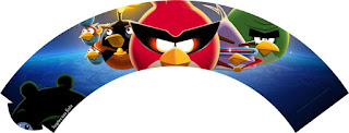 Wrappers para Cupcake para Imprimir Gratis de Angry Birds.