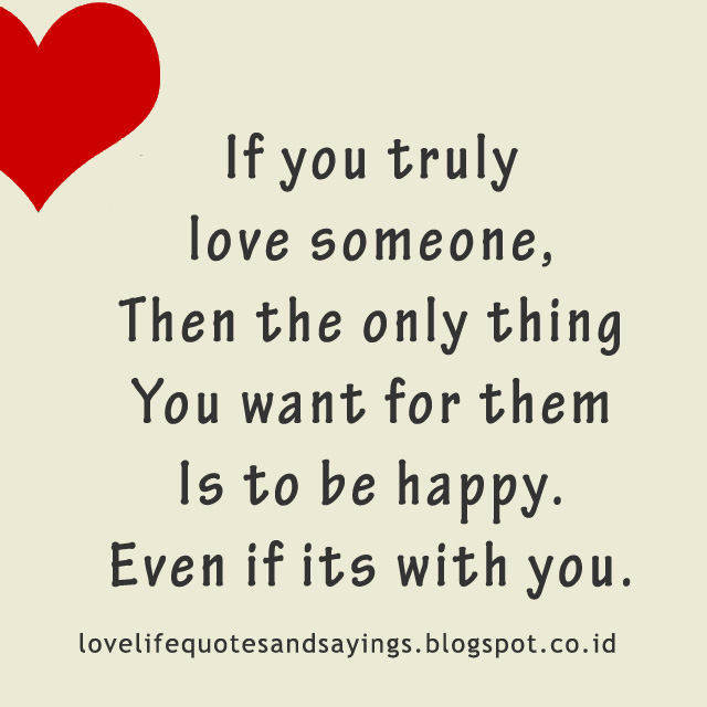 You love when someone truly