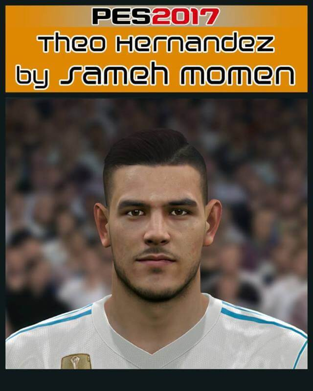 Pes 2017 L Moura Face By Sameh Momen: Theo Hernandez New Face - PES 2017 - PATCH PES