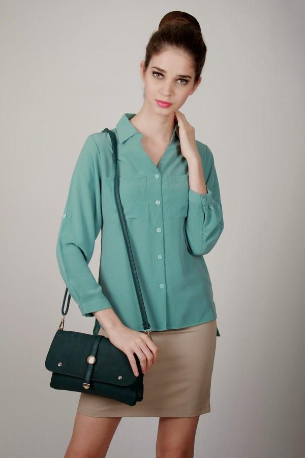 Contoh Gambar Baju Atasan Wanita Lengan Panjang Trend