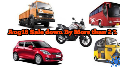 PV sale, Passanger Vehicle sale, August 2018,
