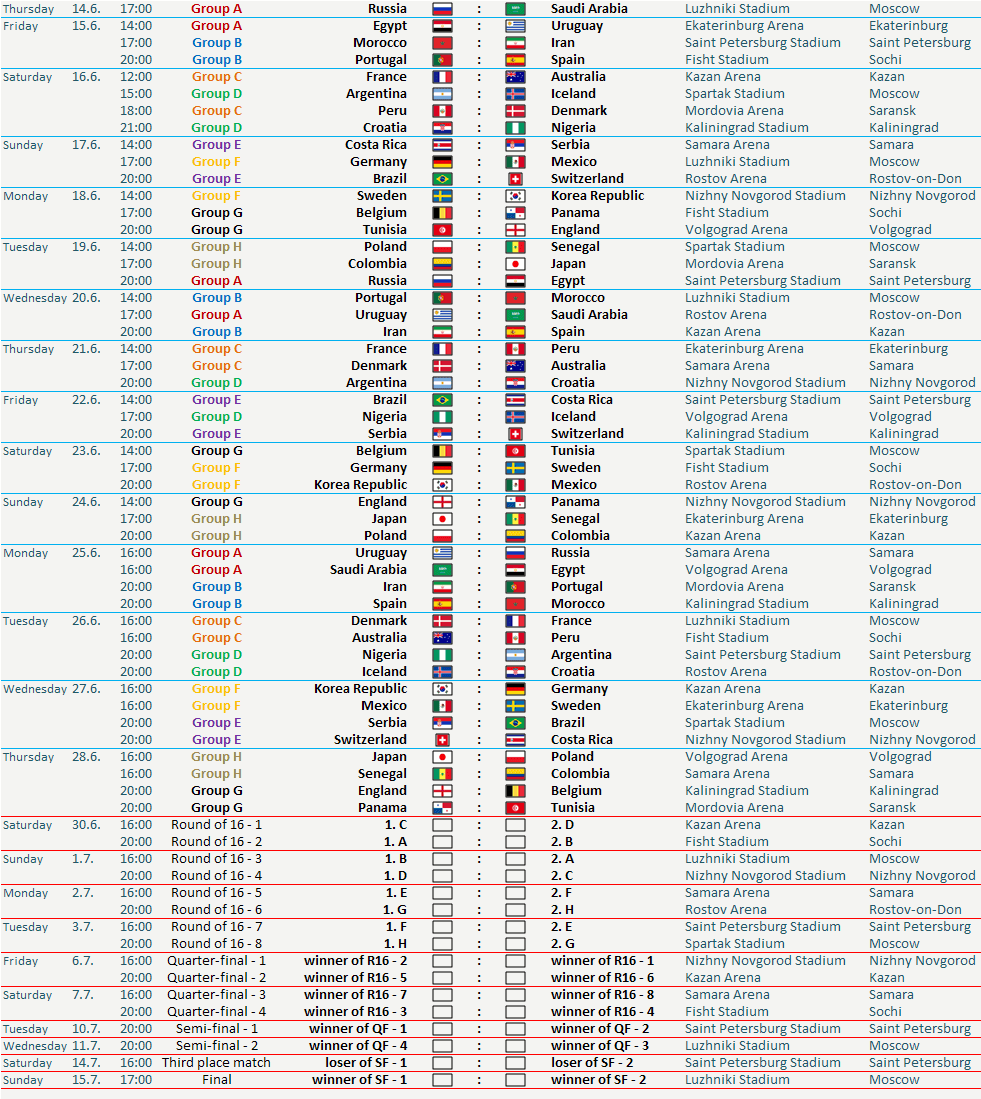 Modest image regarding world cup printable schedule