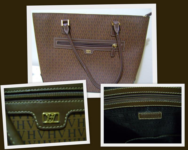 729452bf1 Bolsa em Canvas com detalhes em couro! repare no tam da costura, é padrão  em toda bolsa