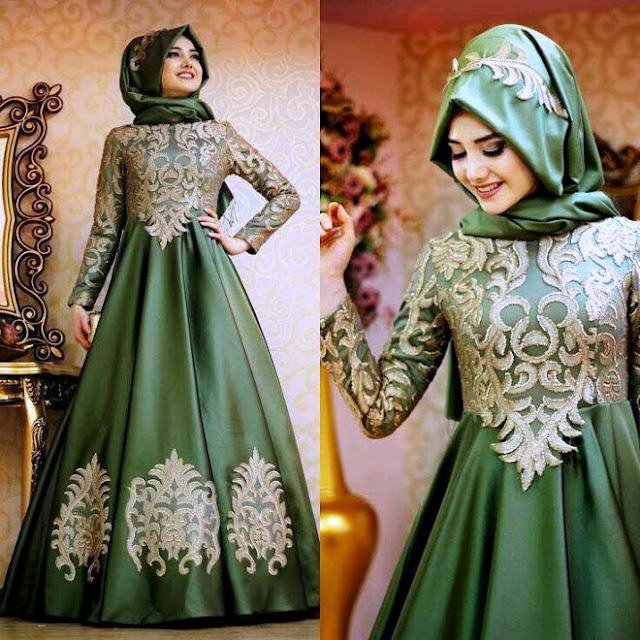 Inspirasi Gaun Muslimah Cantik dan Trendy 2001607