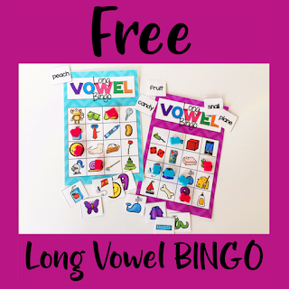 Long Vowel Bingo Literacy Center