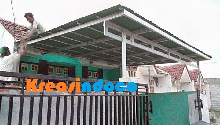canopy baja ringan tanpa tiang atap googreen