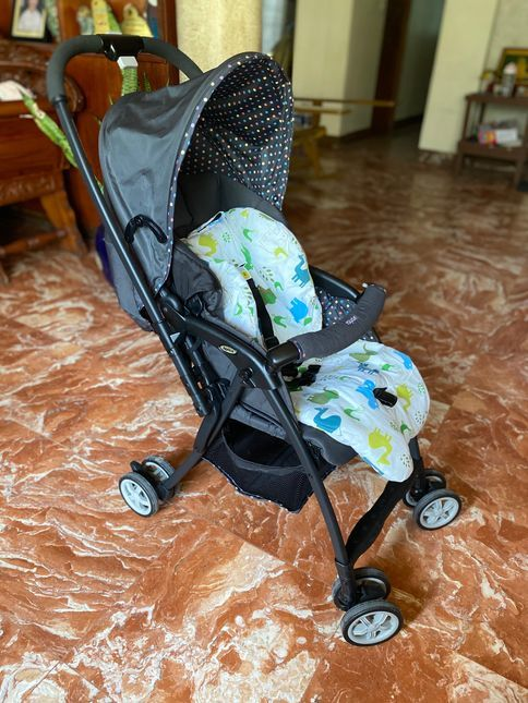 Side view of our Aprica Baby Stroller