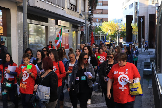 manifestación trabajadoras supermercados Dia