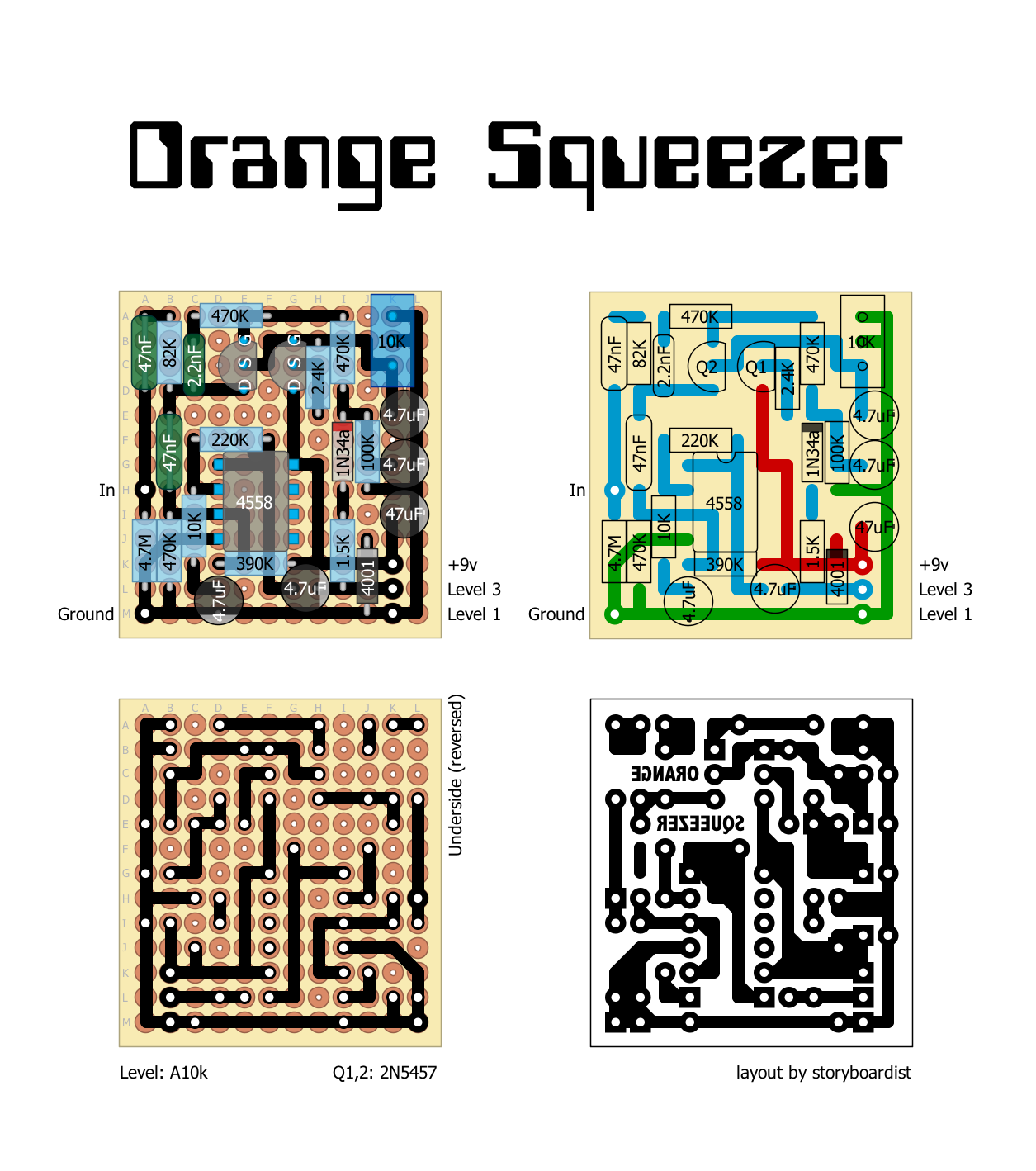 Perf and PCB Effects Layouts: Dan Armstrong Orange Squeezer Dan Armstrong Wiring Diagram on