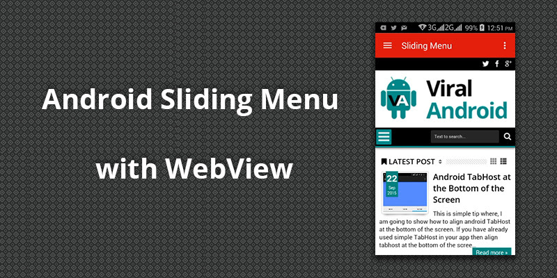 Android Sliding Menu with WebView | Viral Android – Tutorials