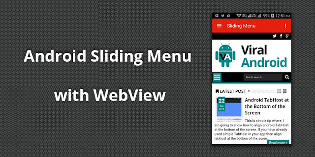 Android Sliding Menu with WebView