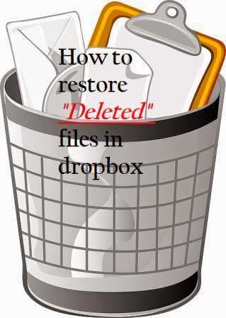 cara mengembalikan file terhapus di dropbox