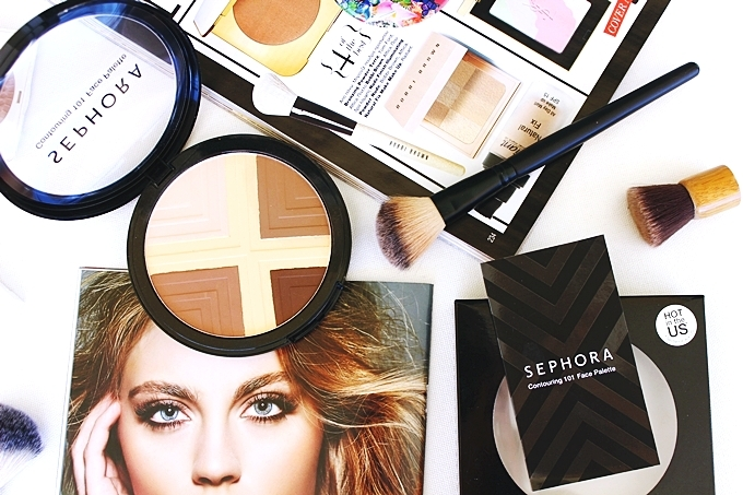 Medium skin tone face products.Sminka za srednje taman ten.Sephora Contouring 101 face palette review.