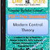 Modern Control Theory PDF Study Materials cum Notes, Engineering E-Books Free Download