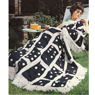 Vintage Domino Crocheted Afghan Pattern