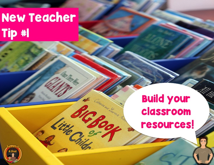 New teacher tip build your classroom library