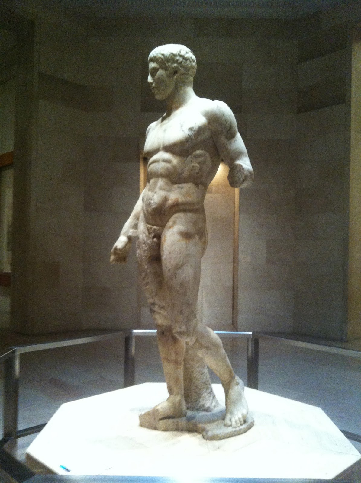 a description of the statue doryphoros by polykleitos Recent scholarship suggests that the doryphoros sculpture in the naples museum may not have been found in a palestra at pompeii see warren g moon, ed, polykleitos, the doryphoros and tradition, university of wisconsin press, 1995.