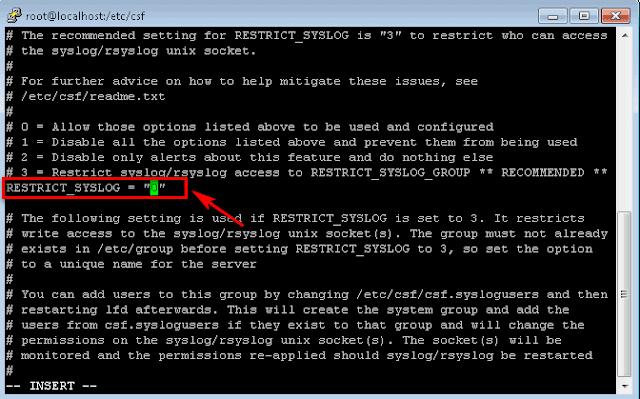 Mengaktifkan ConfigServer Security & Firewall (csf)