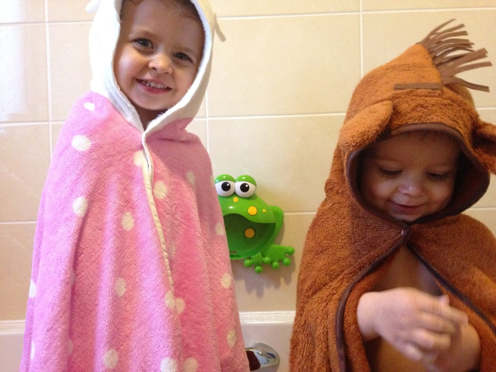 Children In Bath Towels
