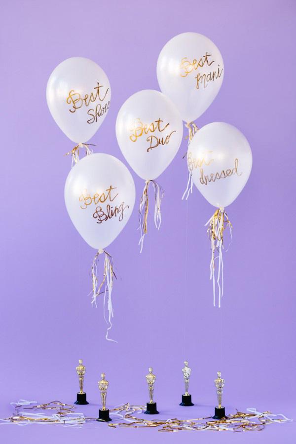 diy oscar balloons by diy studio