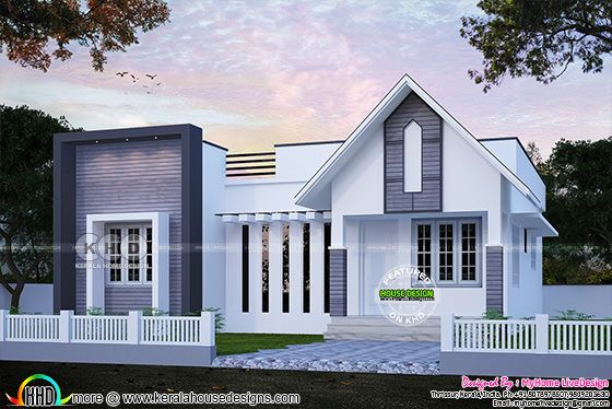 Small mixed roof 2 bedroom single floor house