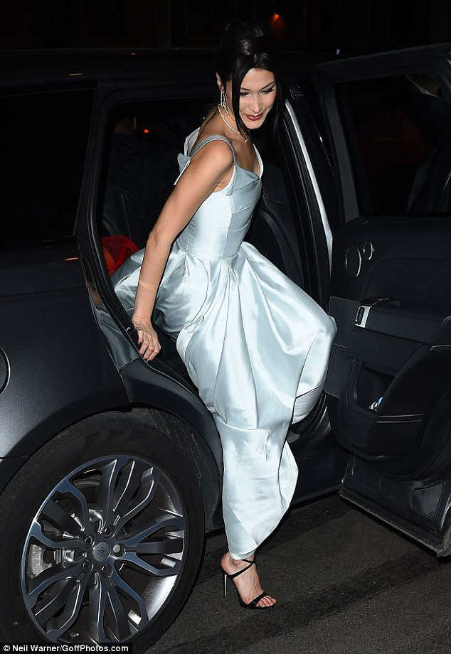 Bella Hadid stunned in the fairytale inspired number, which boasted a full, sweeping skirt