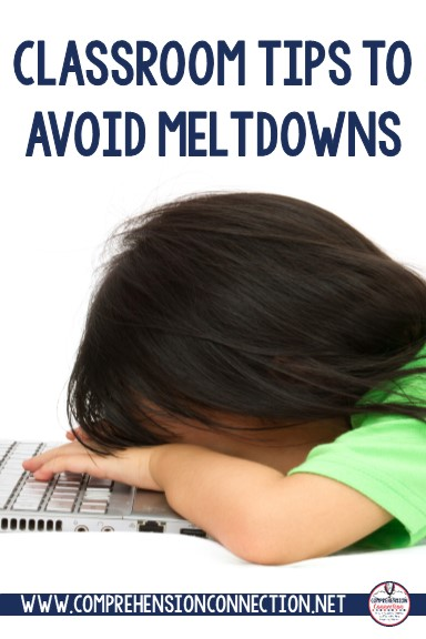 Dealing with behavioral challenges is a huge struggle for teachers, and when those challenges become major disruptions, we need lots of tools. Check out this post for ideas to help children who meltdown.