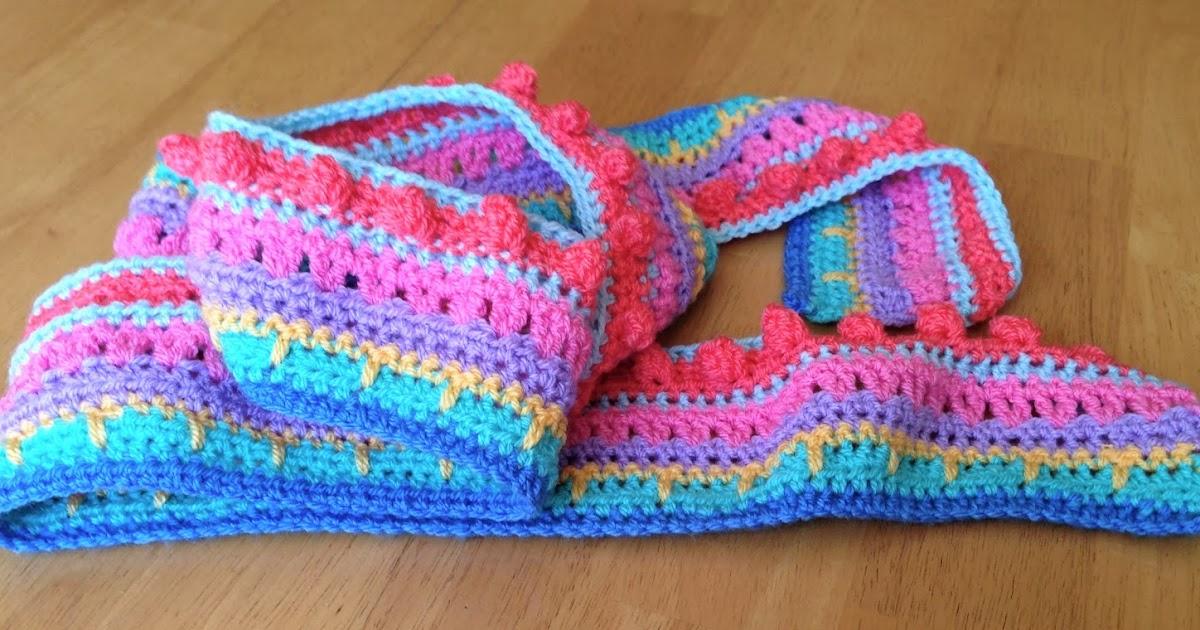 Da S Crochet Connection Mca Multi Stitch Striped Blanket