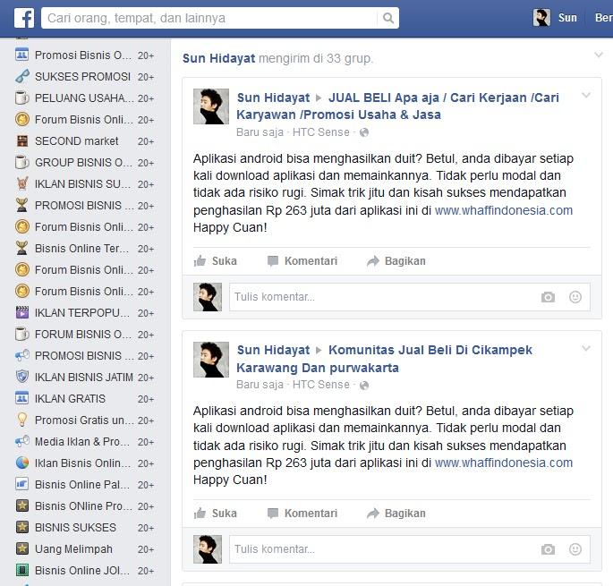 Cara Promosi Otomatis Ke Ratusan Grup Facebook Idrbizz Com