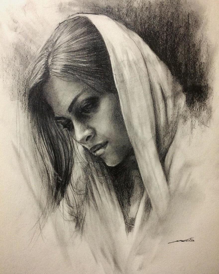 08-@ghazal-painting-gallery-Yoshi-Portrait-Drawings-of-People-on-Instagram-www-designstack-co