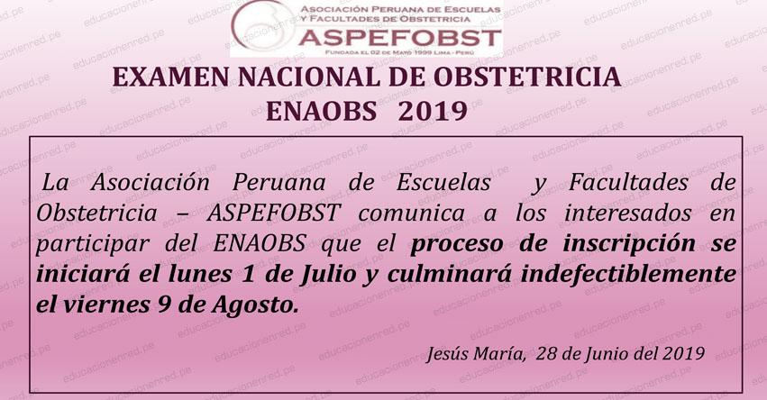 ENAOBS 2019-1: Examen Nacional de Obstetricia (18 Agosto) www.aspefobst.pe